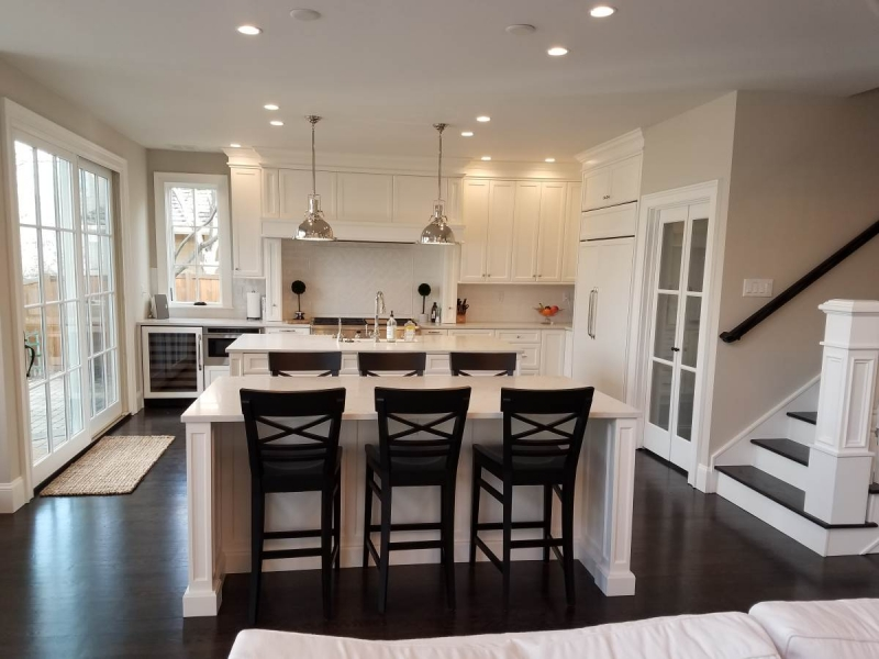 Custom white kitchen cabinetry for Boise kitchen remodel.