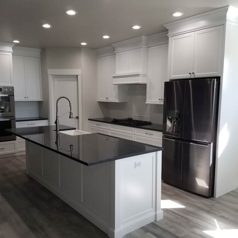 Striking White & Black Kitchen Remodel in Eagle, Idaho