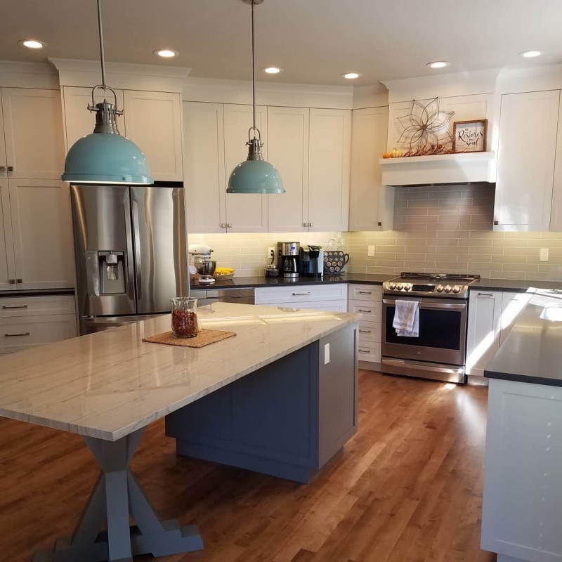 Shaker style kitchen remodel in Southeast Boise