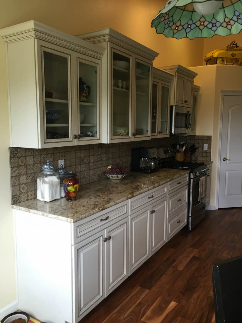 southwest boise kitchen remodel with china cabinets